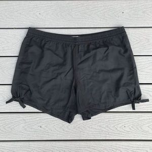 Madewell Side Tie Shorts XXL Black High Waist